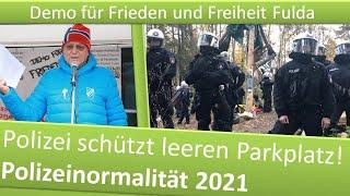 Demo Frieden & Freiheit Fulda/ 16.01.21/ Polizei schützt leeren Parkplatz vor Touristen!