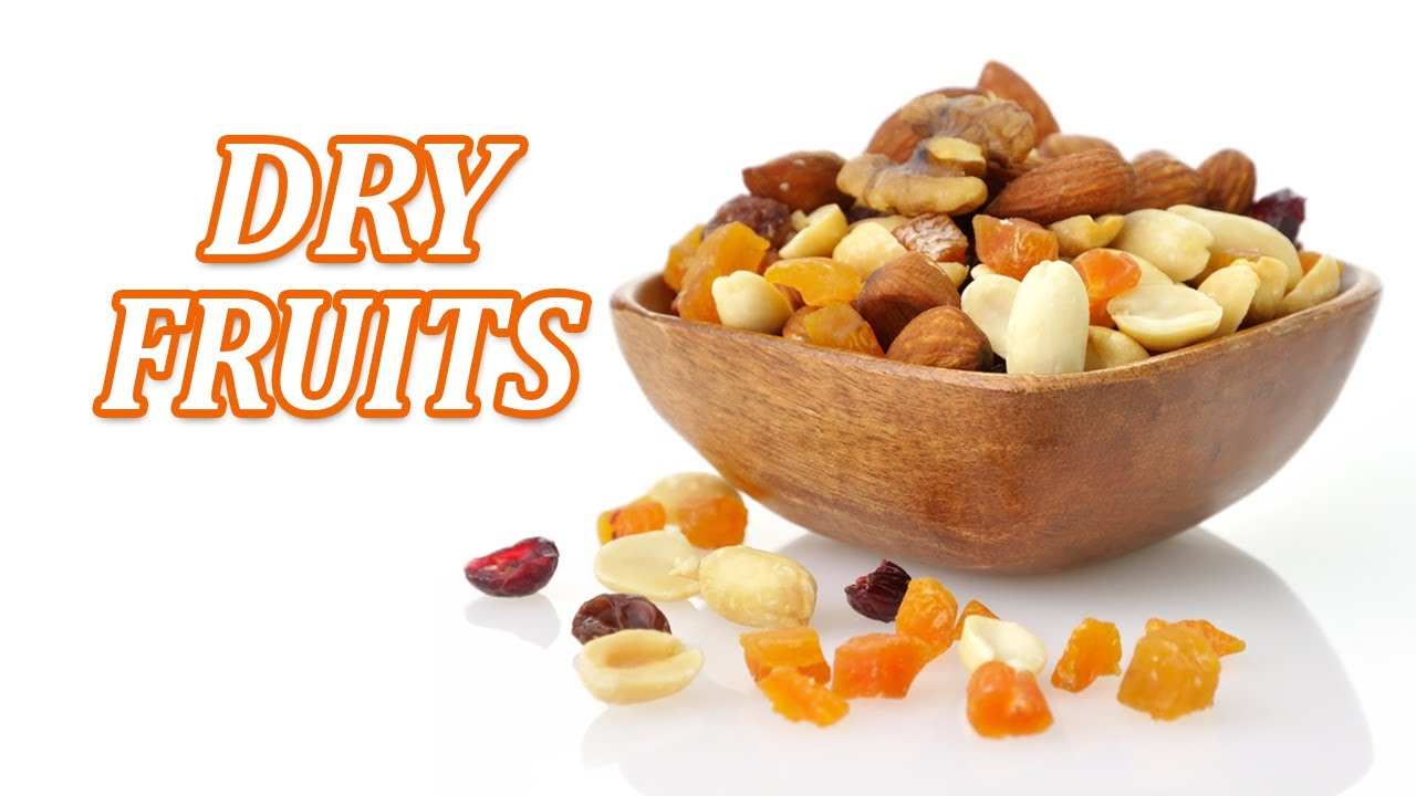 Dry Fruits Name in English - English Vocabulary - Dry Fruits and Nuts