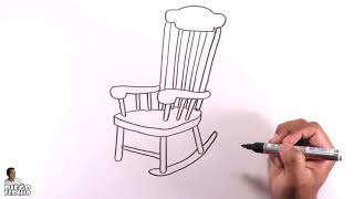 How to easily draw a rocking chair?