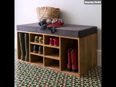 schuhschrank aus holz flur m bel design youtube. Black Bedroom Furniture Sets. Home Design Ideas