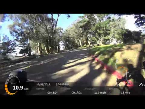 Bicycle ride from Golden Gate park to Golden Gate Bridge with Sony action cam HDR-AS30v