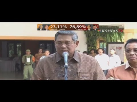 Pernyataan SBY Mengenai Hasil Pilpres - Menanti Indonesia Satu