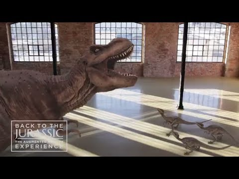 Back to the Jurassic Augmented Reality dinosaur experience for large-screens by INDE