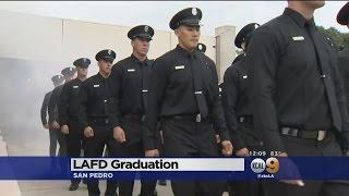 LAFD Recruits Graduate In San Pedro