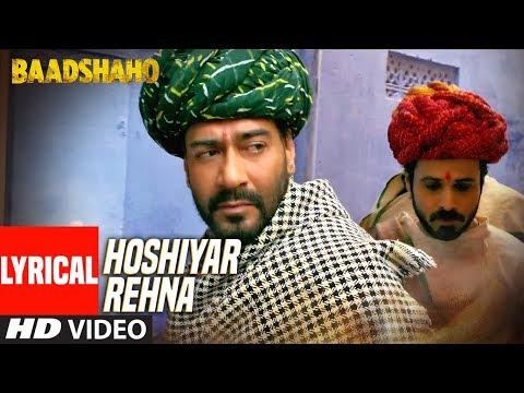 Hoshiyar Rehna With Lyrics   Baadshaho   Neeraj Arya   Kabir Café   T-Series