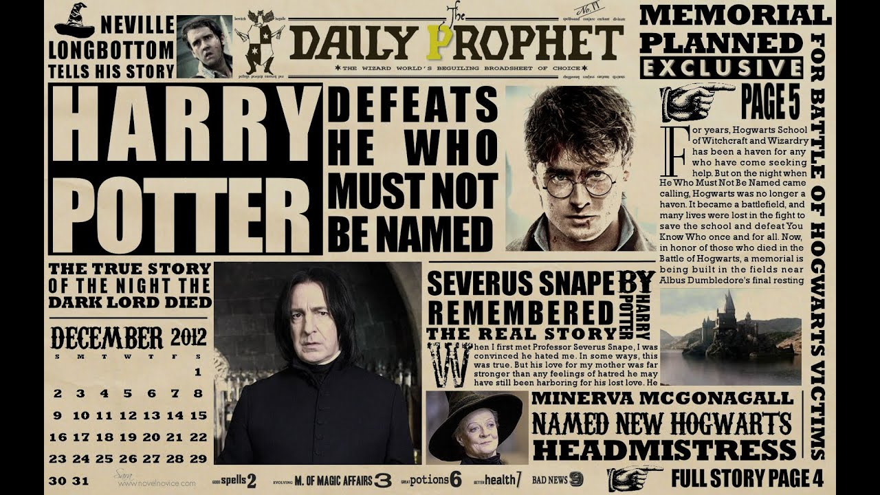 Real Harry Potter Style Newspaper Youtube