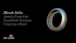 ZBrush Jewelry Basics: Bezel Setting with DynaMesh Boolean
