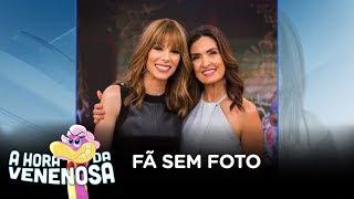 Fátima Bernardes não tira foto com fãs na plateia de seu programa