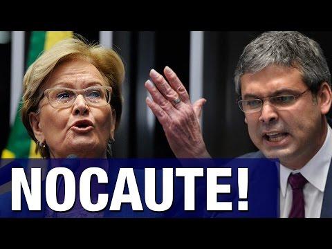 Lindberg Farias tenta se destacar no Senado e acaba sofrendo 'nocaute' histórico de Ana Amélia