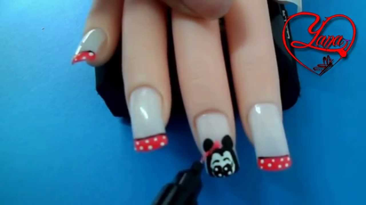 19 Decorados de uñas Minnie Mouse - Yana - YouTube
