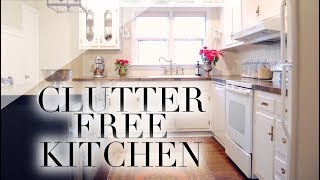 Our Clutter Free Kitchen | SIMPLE LIVING SERIES