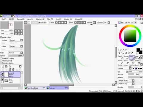how to draw shapes in paint tool sai