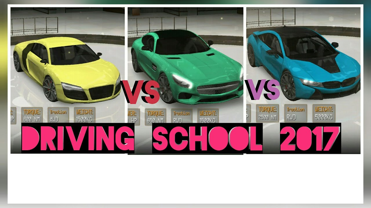 Driving School 2017 Drag Race Drag Racing Audi Tt R8 Bmw I8 Amg