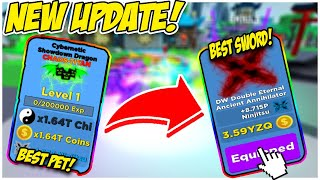 😱 Ninja Legends 🔥 NEW UPDATE! 🔥 I GOT THE *NEW* BEST CHAOS TITAN PET AND BEST SWORD! 😱