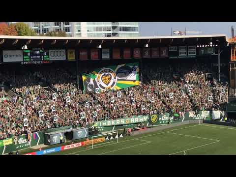 Timbers Army unveils tifo ahead of Portland Timbers' final home game of regular season
