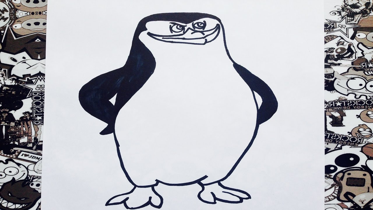 Como dibujar a skipper los pinguinos de madagascar | how to draw ...