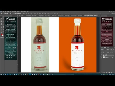 Professional product retouching clipping path