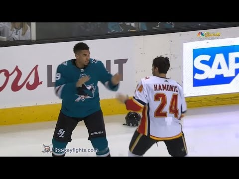 Travis Hamonic vs Evander Kane Mar 24, 2018