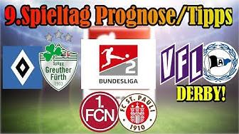 9.Spieltag 2.Bundesliga PROGNOSE+TIPPS /  Derby in Osnabrück, Formstarkes Duell in Nürnberg