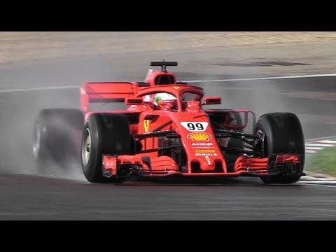 Antonio Giovinazzi Developing 2019 Pirelli F1 Wet Tires w/ a Ferrari SF71H