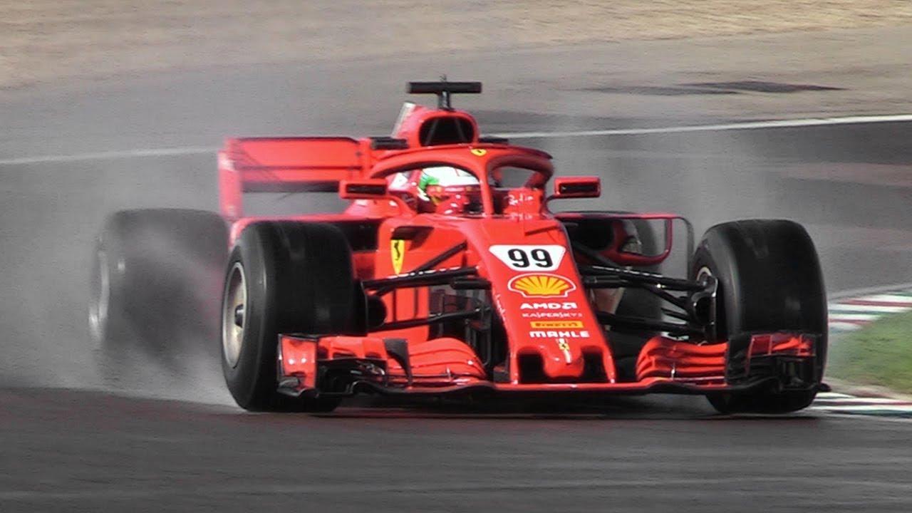 Antonio Giovinazzi Developing 2019 Pirelli F1 Wet Tires W