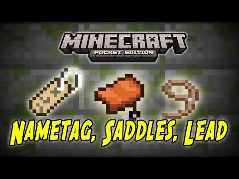 Minecraft Pe Mod Showcase Nametags Saddles Lead Mod