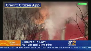 8 Hurt In East Harlem Fire