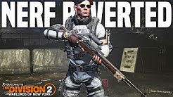 The Division 2 | HUGE Nerf Reverted & Changes! State of the game recap