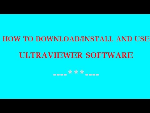 How to download,install and use Ultraviewer - YouTube