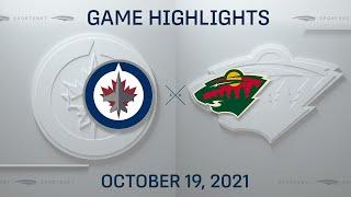 NHL Highlights   Jets vs. Wild - Oct 19, 2021