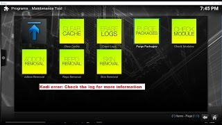 How to fix Kodi error: Check the log for more information