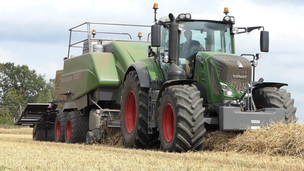Fendt 828 Vario Baling w/ Fendt 12130N Big Baler | Fendt Feldtag | Danish  Agriculture