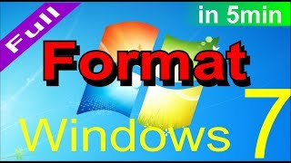 How to Format Windows 7 Ultimate step by step in hindi