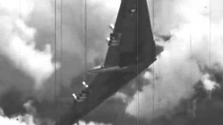 """Northrop YB-49 """"Flying Wing"""" - Taxing, Take Off & Flight Operations (1947)"""