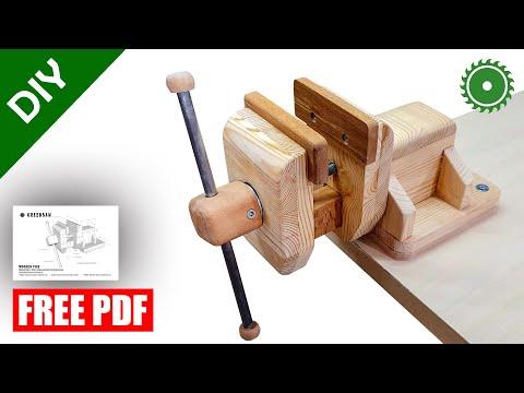 Wooden Vise Making DIY +PDF