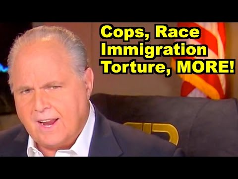 Cops, Race, Torture - Rush Limbaugh, Michael Che & MORE! LiberalViewer Sunday Clip Round-Up 85