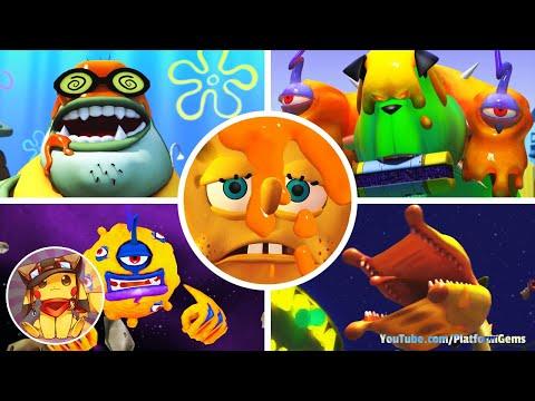 All Boss Fights & Final Boss - SpongeBob SquarePants & Nicktoons GLOBS OF DOOM [1080p]