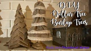 DIY Dollar Tree Farmhouse Burlap Treed