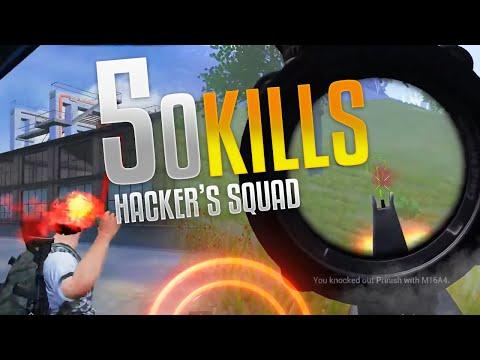 50 SQUAD KILLS PLAYING LIKE HACKERS PUBG MOBILE HIGHLIGHTS