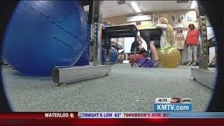 Omaha Classroom Swaps Chairs for Exercise Balls