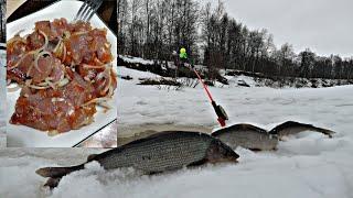 ЛОВЛЯ ХАРИУСА ЛЕНИВЫМ СПОСОБОМ Малосольная рыба