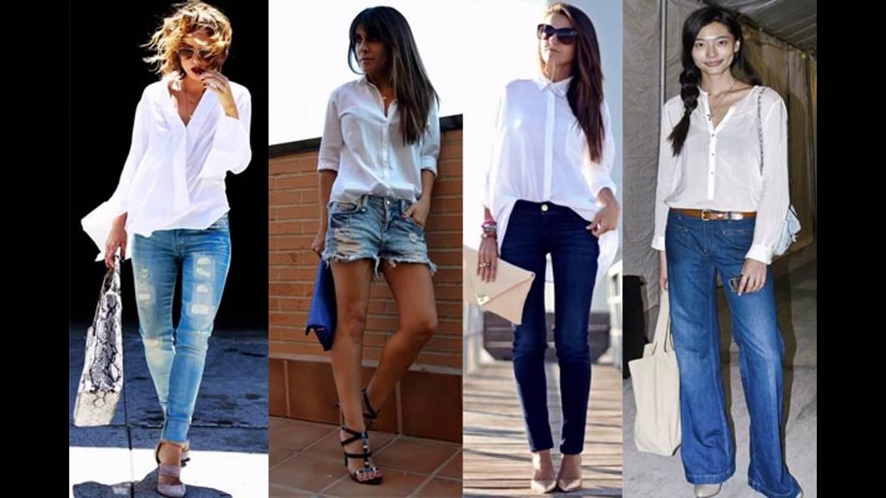 78b0c26be4 Tendencias de Moda Como combinar una blusa blanca - YouTube