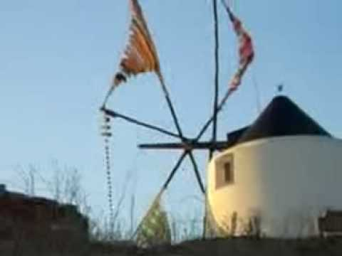 the windmill, hand woven sails....