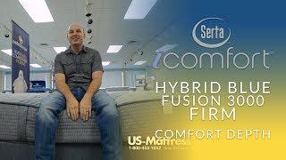 Serta iComfort Hybrid Blue Fusion 3000 Firm Mattress Comfort Depth 3