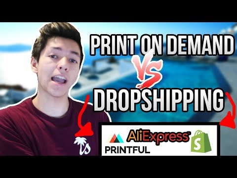 Print On Demand vs. Drop Shipping... You Won't BELIEVE Which One Is Better...