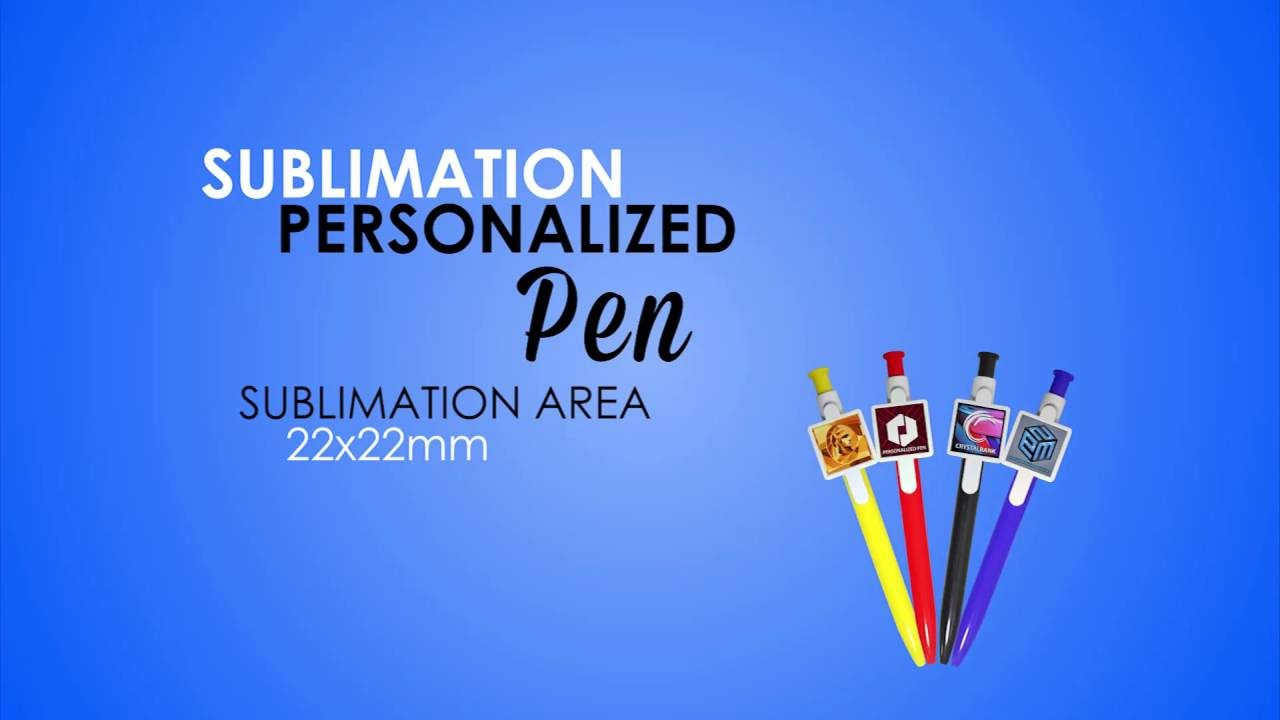 Sublimation Personalized Pen Printing Tutorial