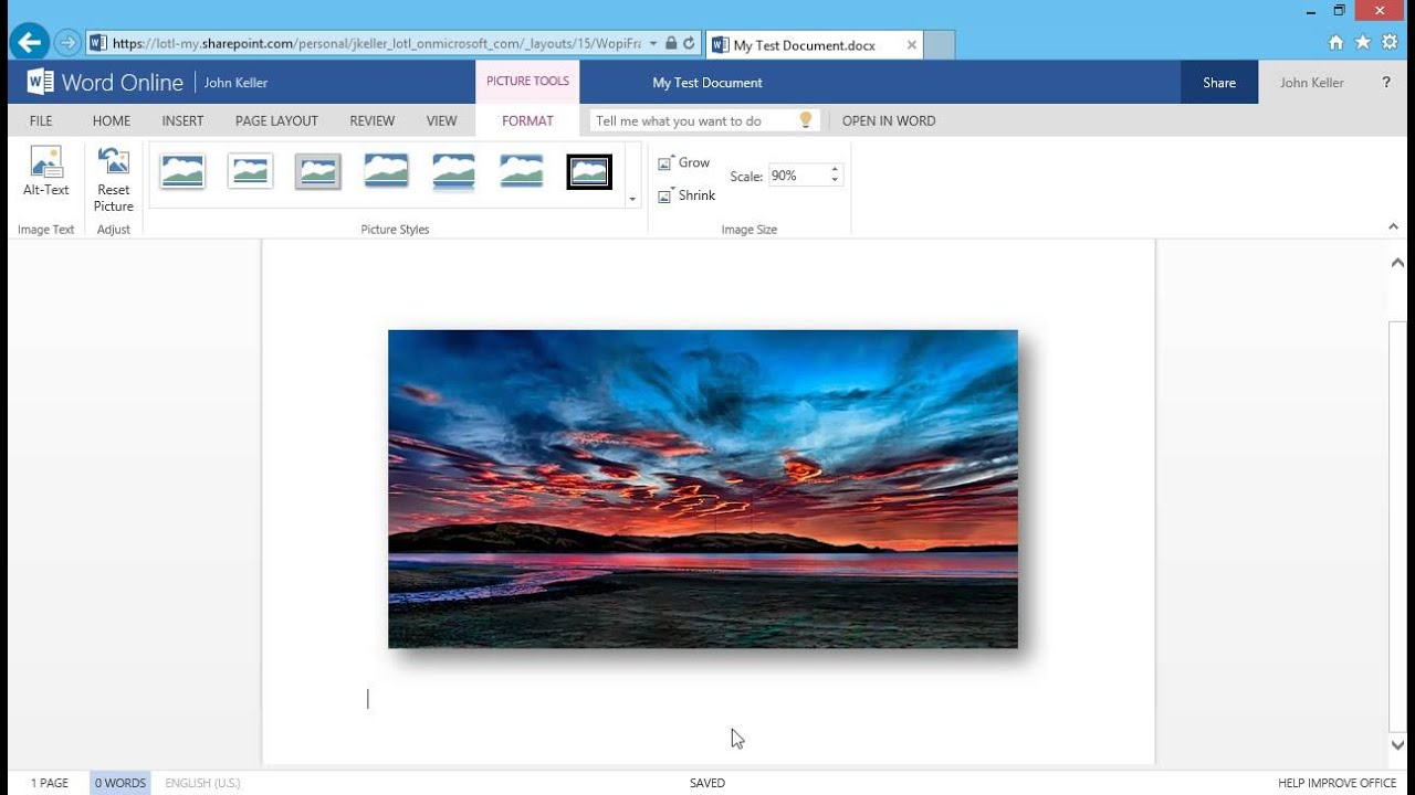office online word inserting clip art and pictures [ 1280 x 720 Pixel ]