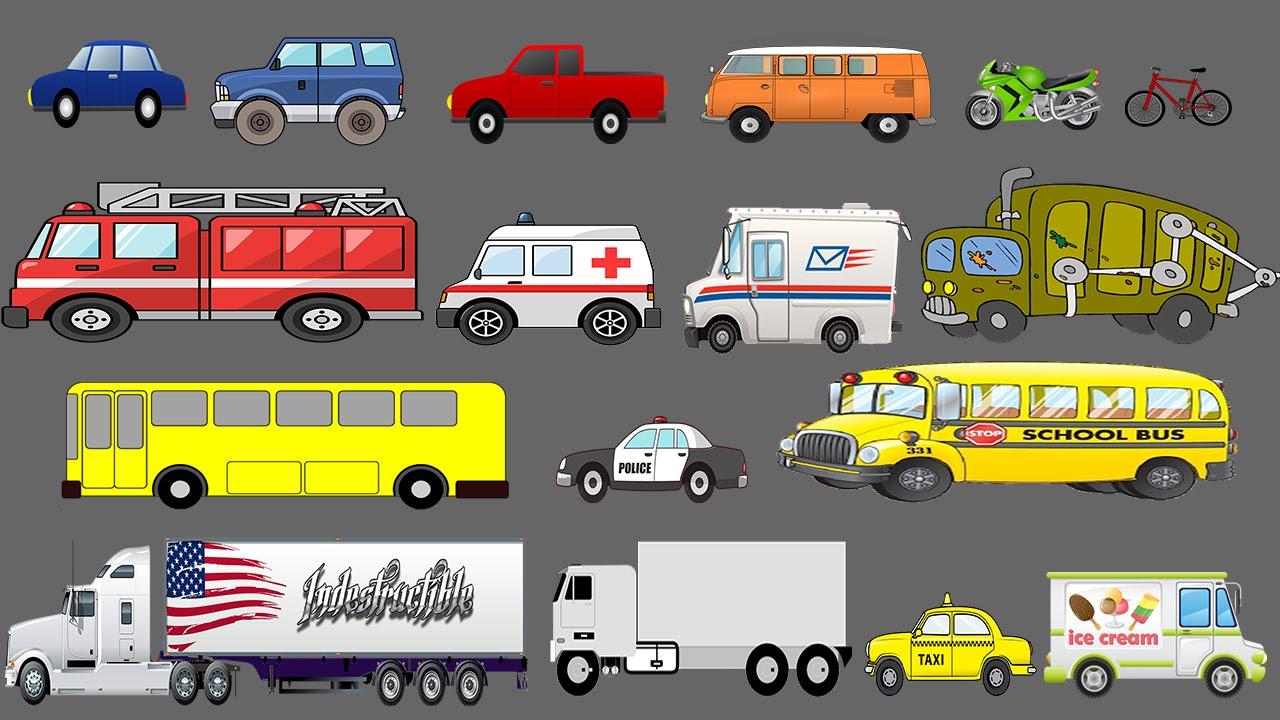 Street Vehicles Learning For Children Learn Cars And Trucks Kids