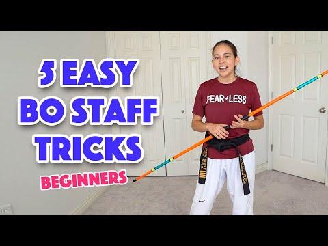 Easy Bo Staff Tricks for Beginners | Taekwondo, Karate, Martial Arts