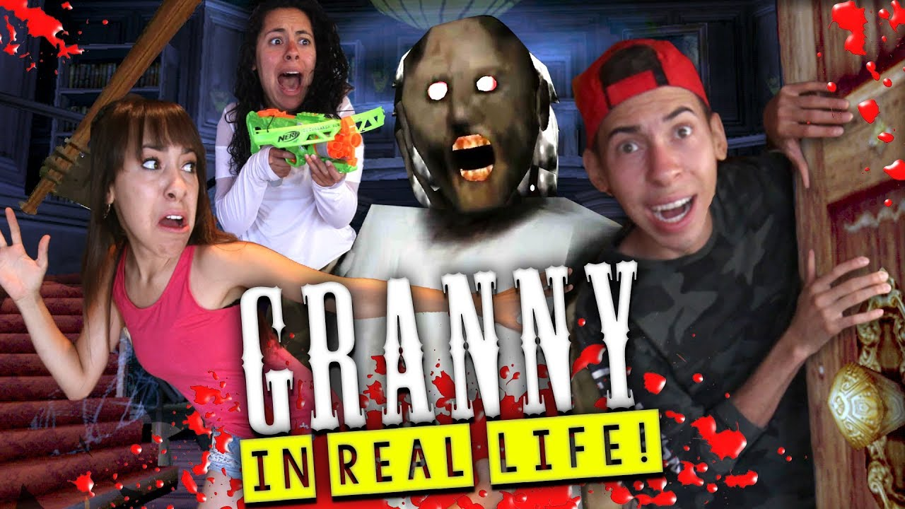 Granny Horror Game In Real Life In A Mansion Youtube